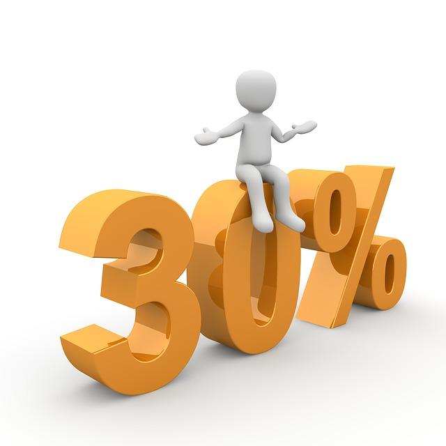 třicet procent