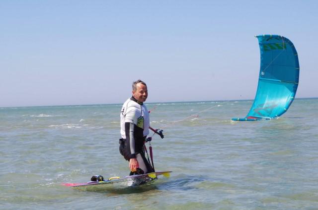 kiteboarding na moři