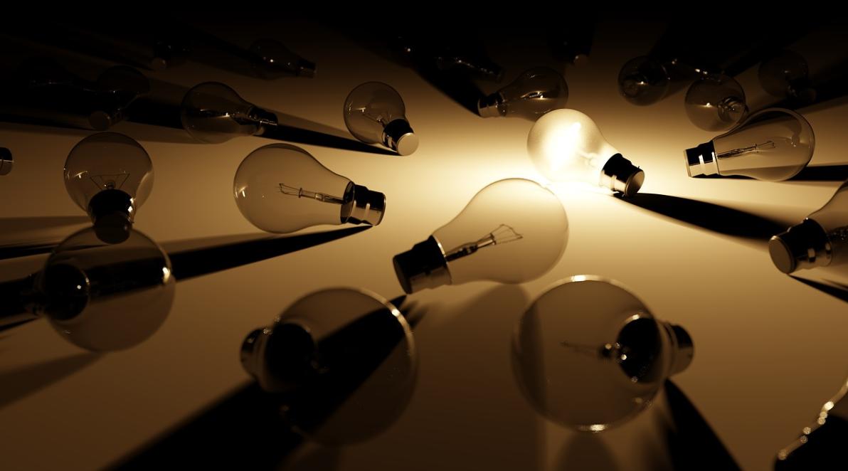 ležící žárovky